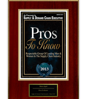 Slava Apel | Supply & Demand Chain Executive's Pros To Know 2013
