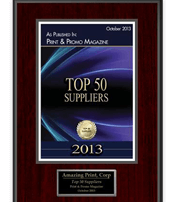 Slava Apel | Print and Promo Magazine Top 50 Suppliers 2013