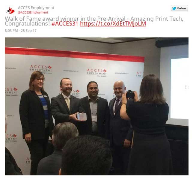 Slava Apel receiving the Walk of Fame Award 2017