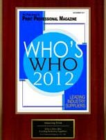 2012 Who's Who Award Leading Industry Suppliers | Print Professional Magazine