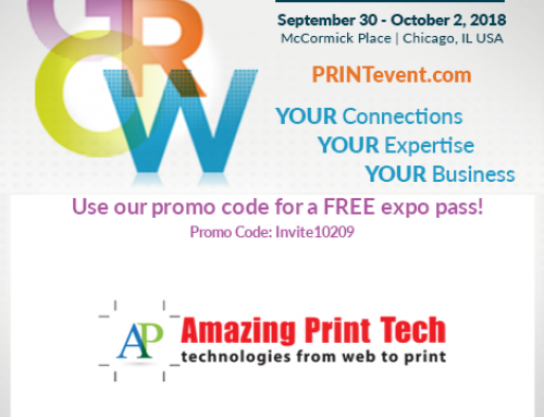 Join me at #Print18 booth 451 for the largest attended graphic communications and printing event in North America.