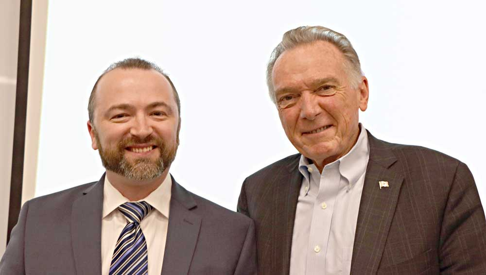 Peter Kent with Slava Apel